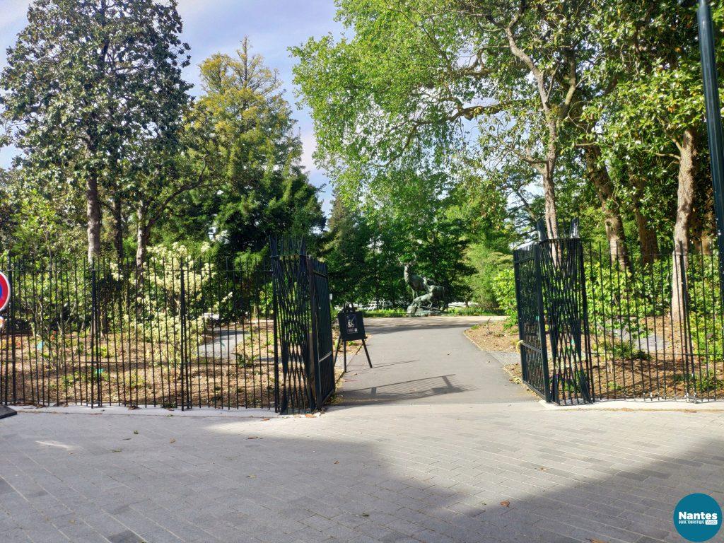 Entrée Jardin des plante Nantes